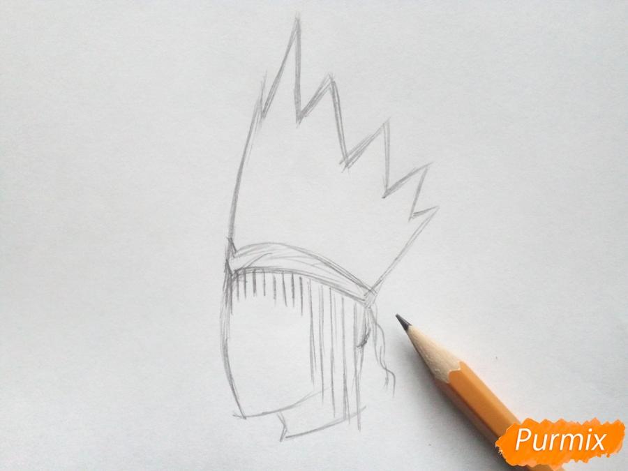 Рисуем корону Снежной королевы - шаг 2
