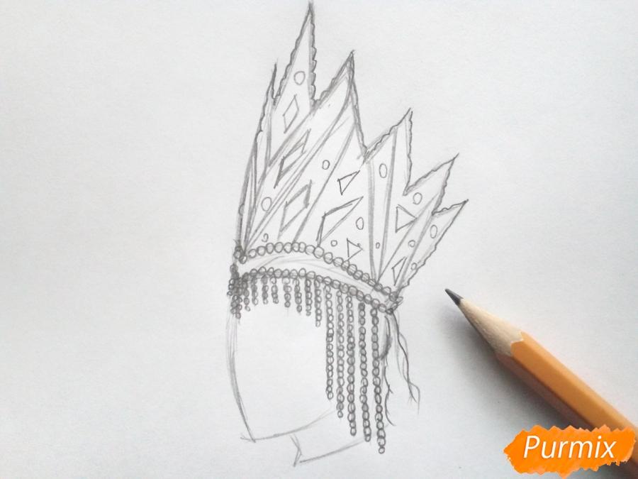 Рисуем корону Снежной королевы - шаг 3