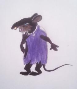 Фото крысу Шушера из Буратино карандашом