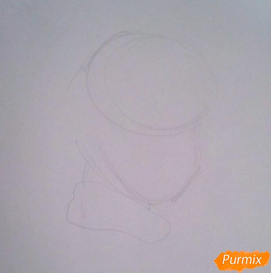 Рисуем папу Карло из Буратино - шаг 1