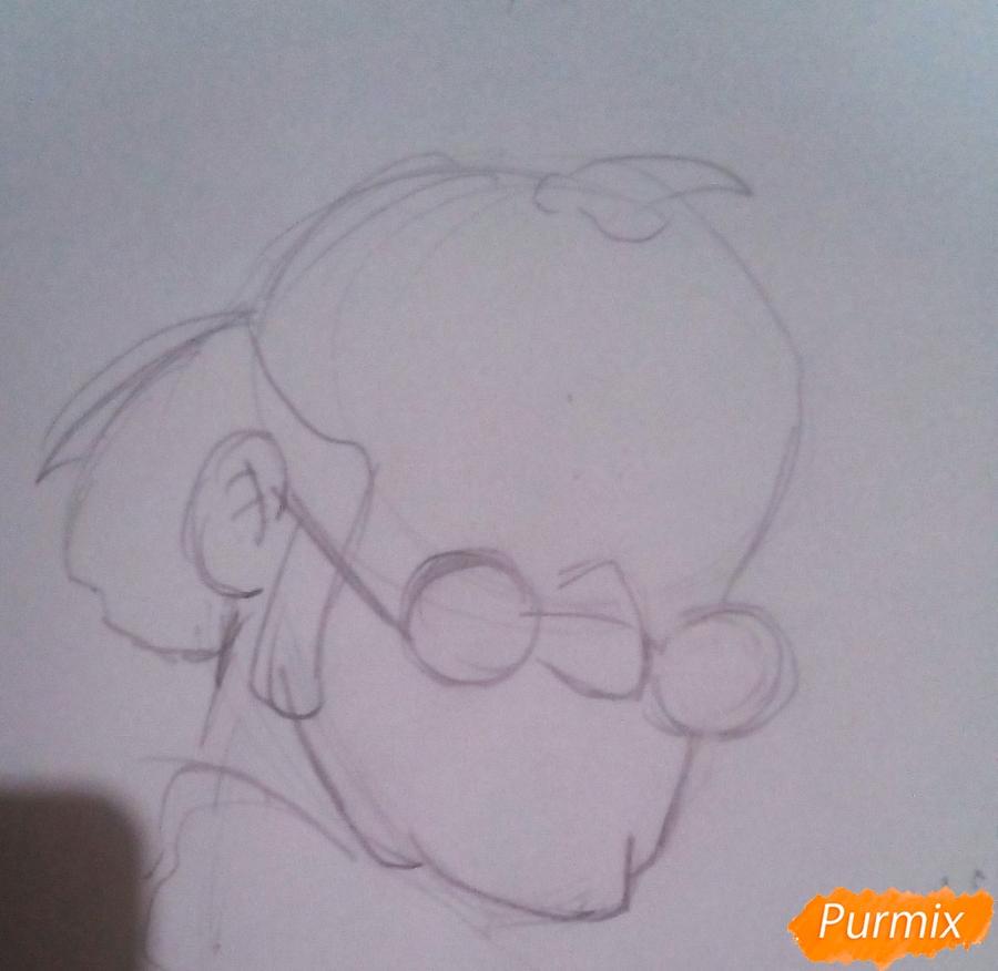 Рисуем папу Карло из Буратино - шаг 2