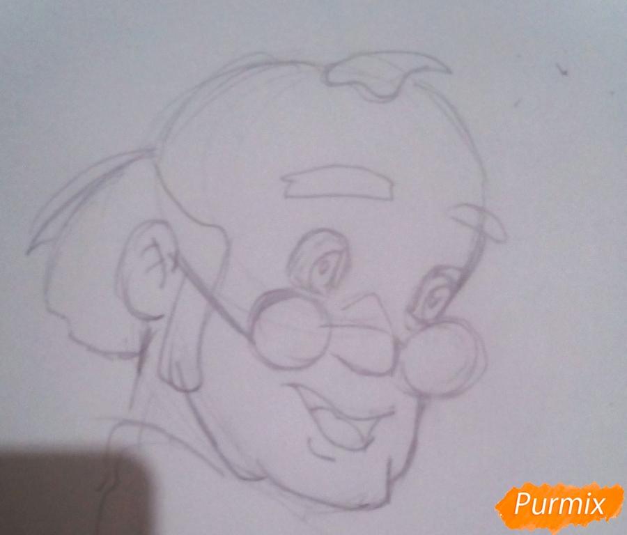 Рисуем папу Карло из Буратино - шаг 3