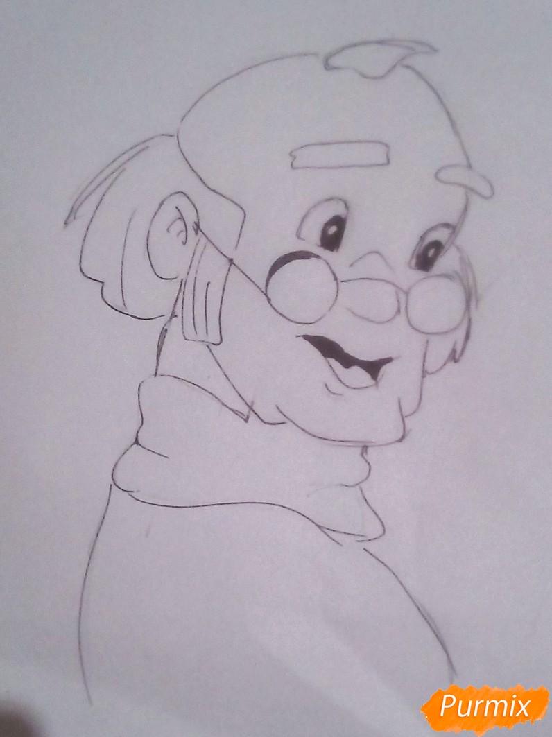 Рисуем папу Карло из Буратино - шаг 4