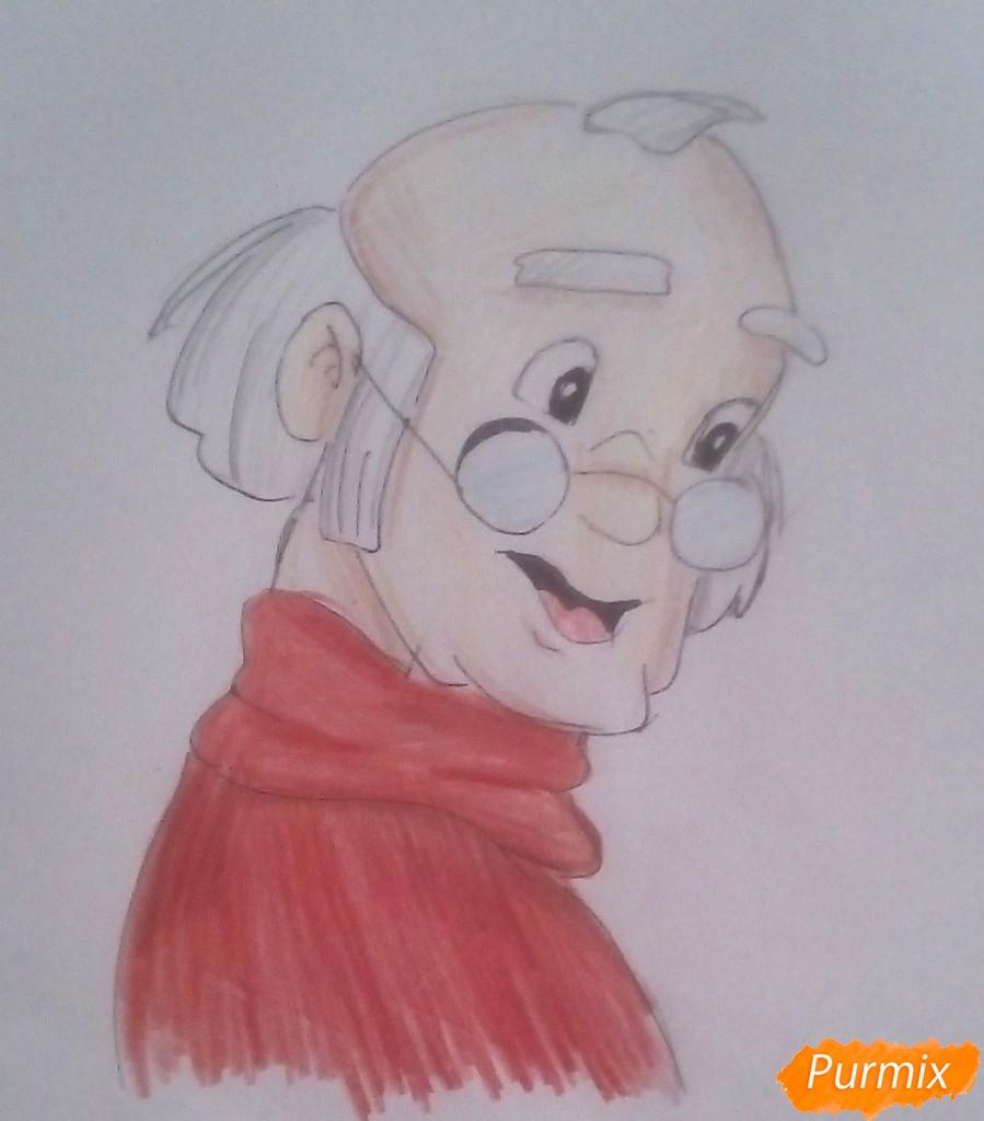 Рисуем папу Карло из Буратино - шаг 7
