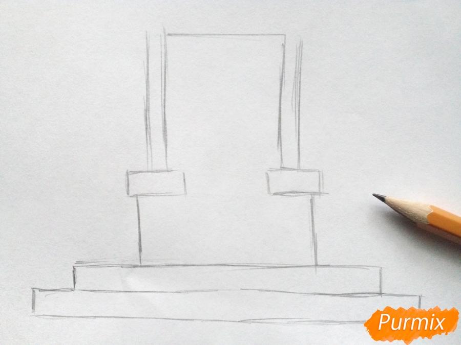 Рисуем Снежную королеву на троне - шаг 1