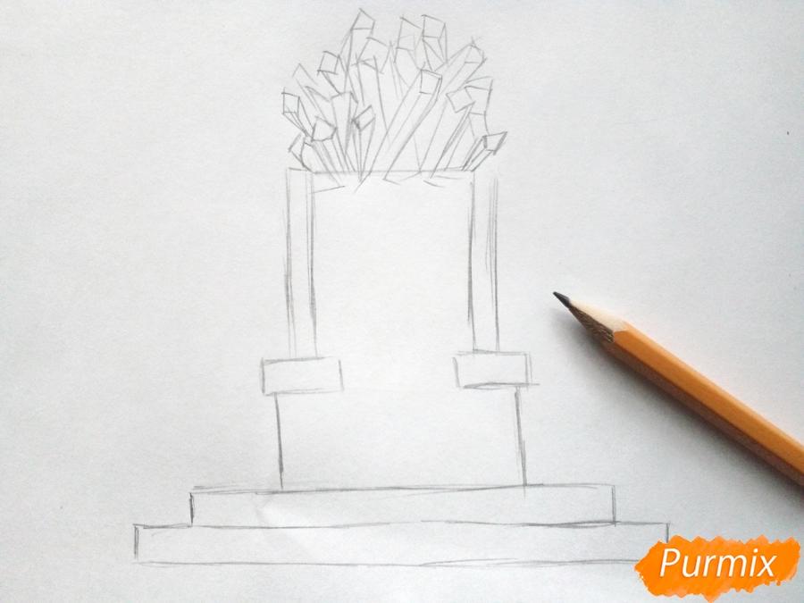 Рисуем Снежную королеву на троне - шаг 2