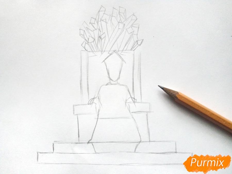 Рисуем Снежную королеву на троне - шаг 3