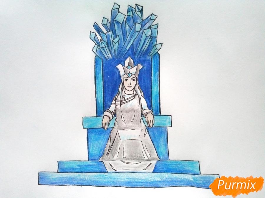 роль рисунок снежная королева на троне место жизни школы