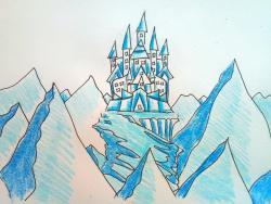 Фото замок Снежной королевы карандашом