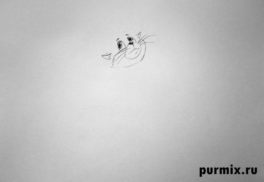 Рисуем кота Матроскина из Трое из Простоквашино - шаг 2