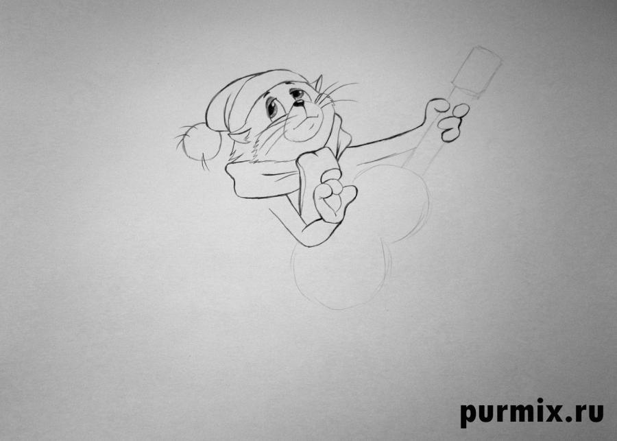 Рисуем кота Матроскина из Трое из Простоквашино - шаг 4