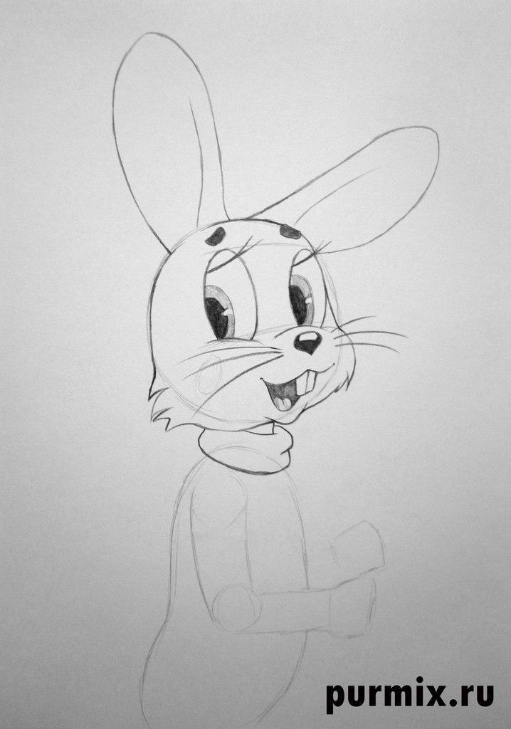 Рисуем зайца из Ну погоди - шаг 3
