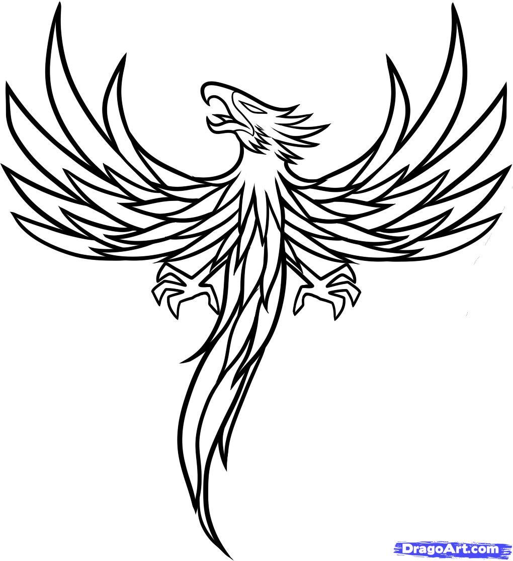 Рисуем тату в виде феникса - шаг 8
