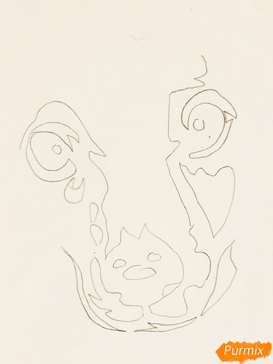 Рисуем таксу в стиле тату - шаг 1