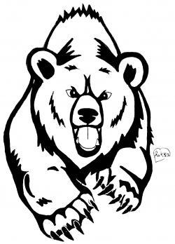 тату медведя карандашом