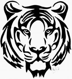 тату тигра карандашом