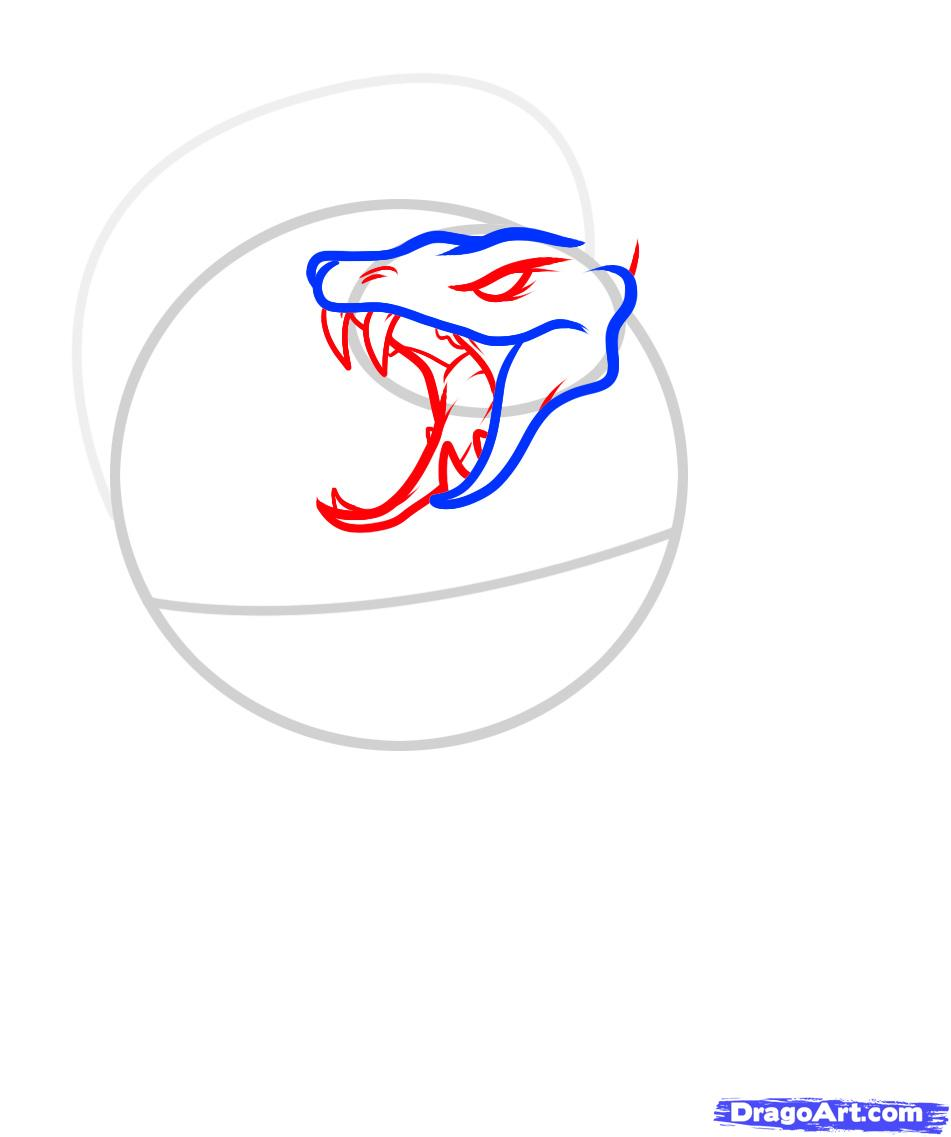 Рисуем череп пробитый кинжалом со змеей - шаг 3