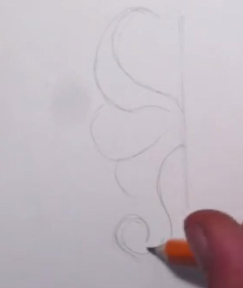 Рисуем абстрактную бабочку - шаг 1