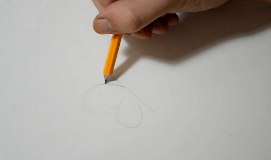 Рисуем бабочку в стиле тату - шаг 1