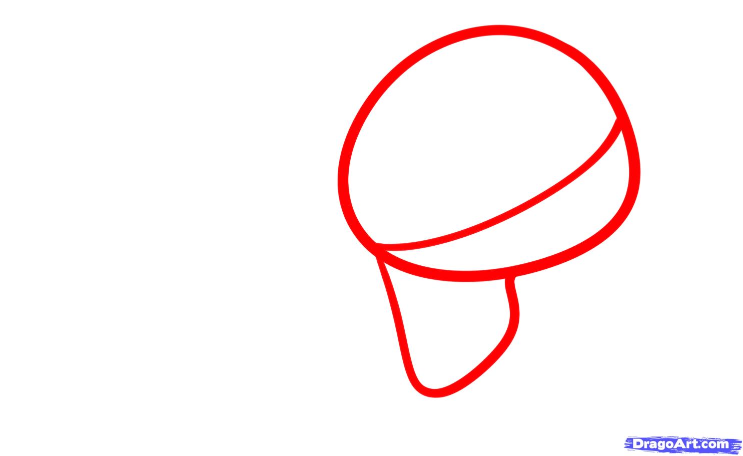 Рисуем череп с розой четками и крестом - шаг 1