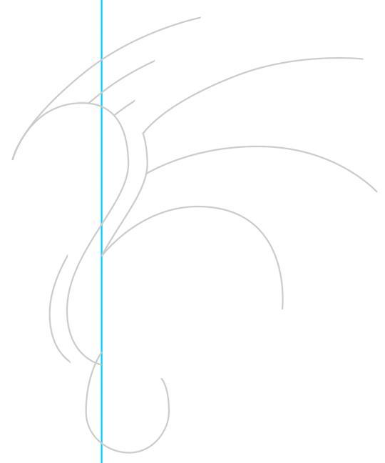 Рисуем дракона в стиле тату - шаг 3