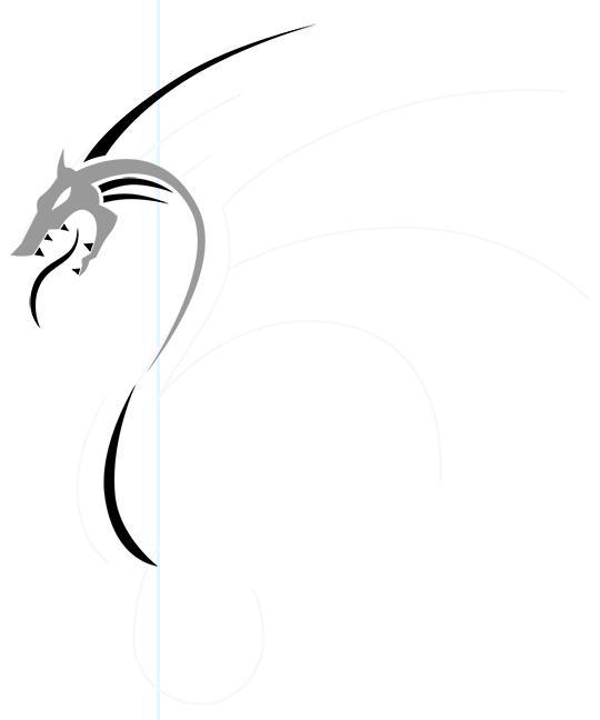 Рисуем дракона в стиле тату - шаг 5