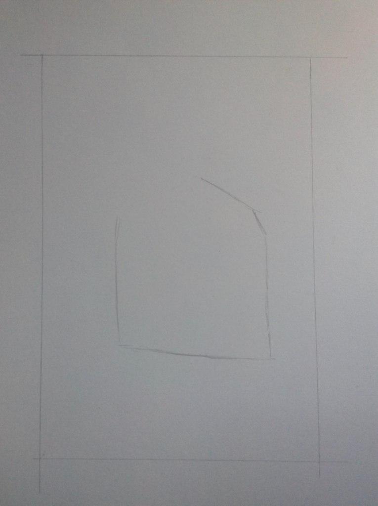 Рисуем тату котенка - шаг 1