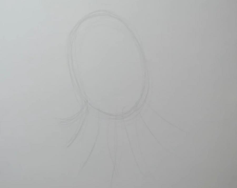 Рисуем татуировку осьминога на бумаге - шаг 1