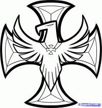 Фото железный крест с орлом карандашом