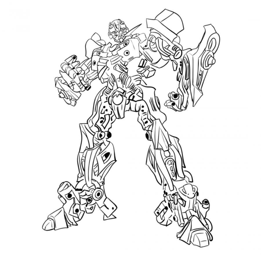 Рисуем трансформера Бамблби - шаг 10