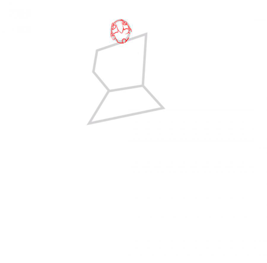 Рисуем трансформера Бамблби - шаг 2
