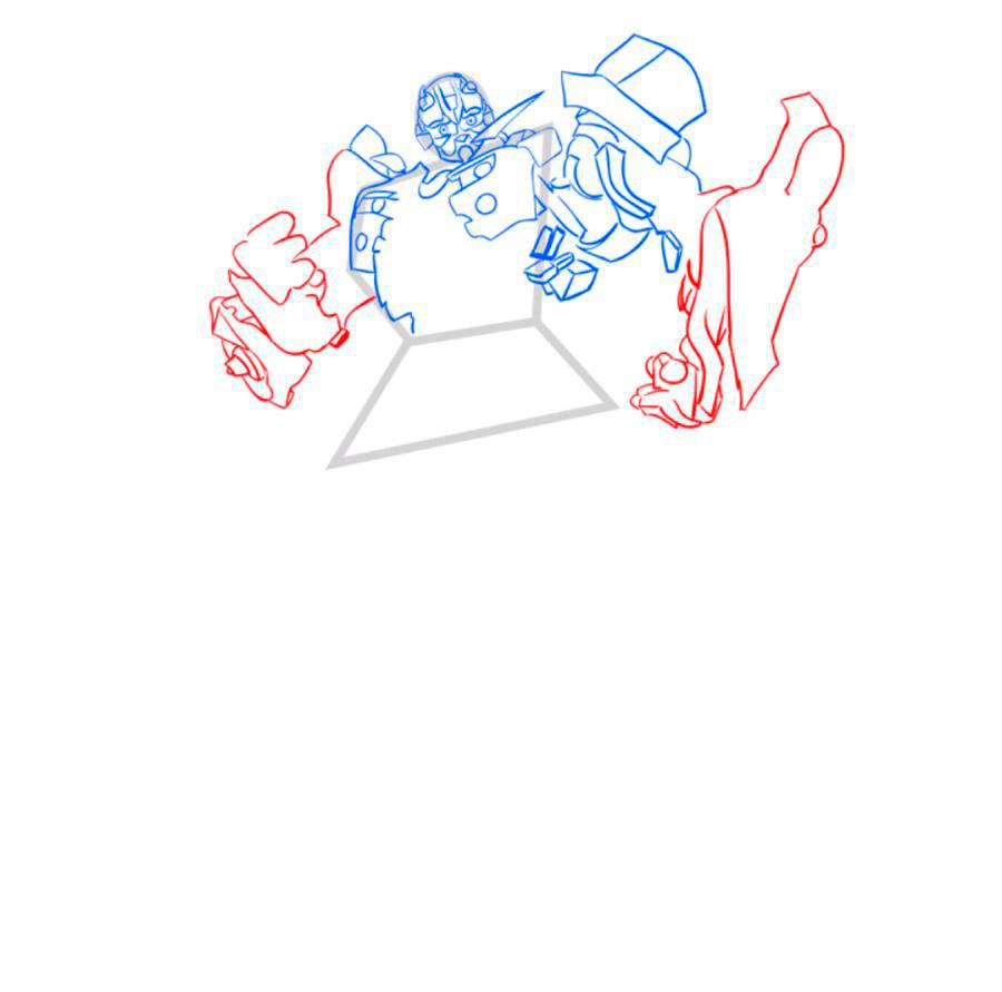 Рисуем трансформера Бамблби - шаг 5