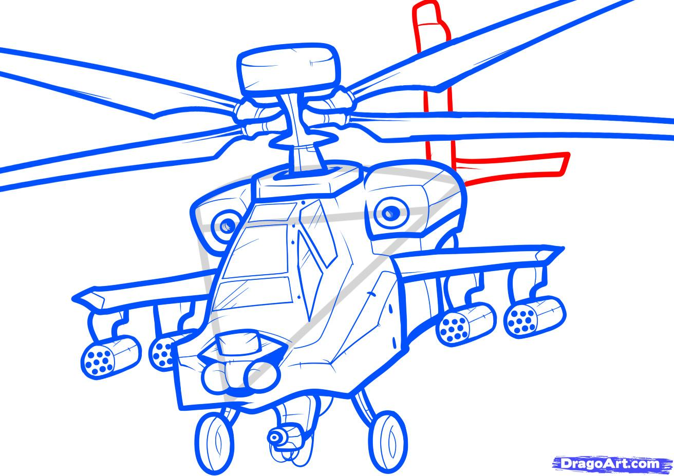 Рисуем вертолет AH-64 Apache - шаг 8