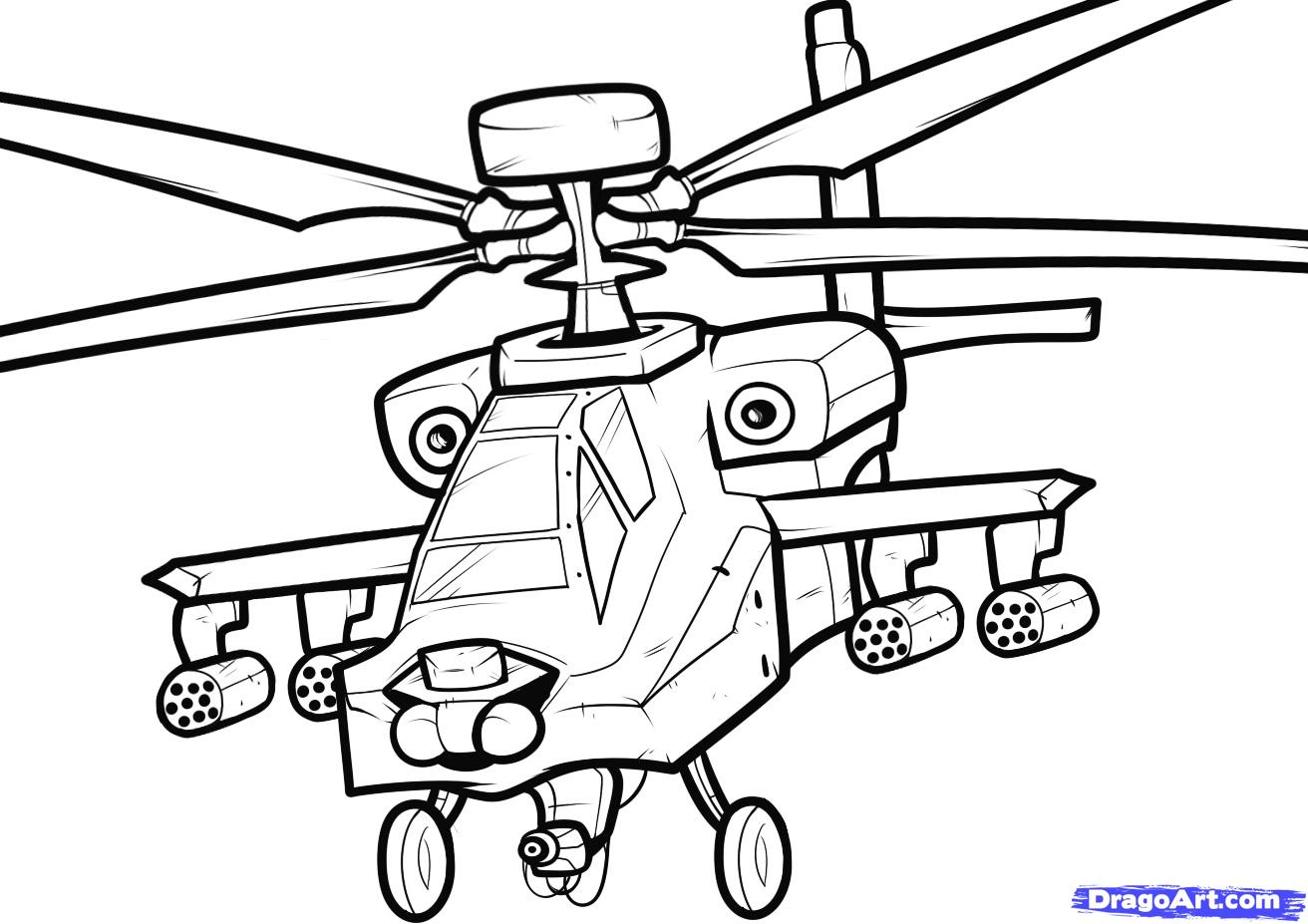 Рисуем вертолет AH-64 Apache - шаг 9