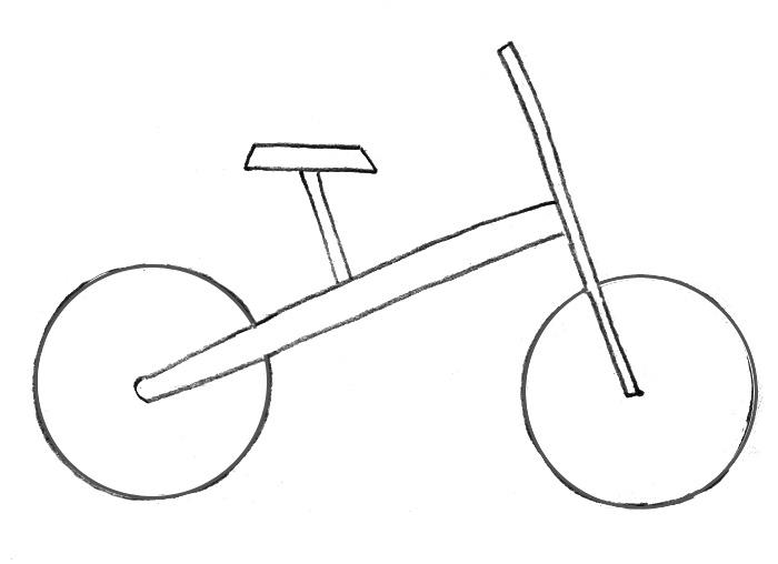 Учимся рисовать Велосипед - шаг 1