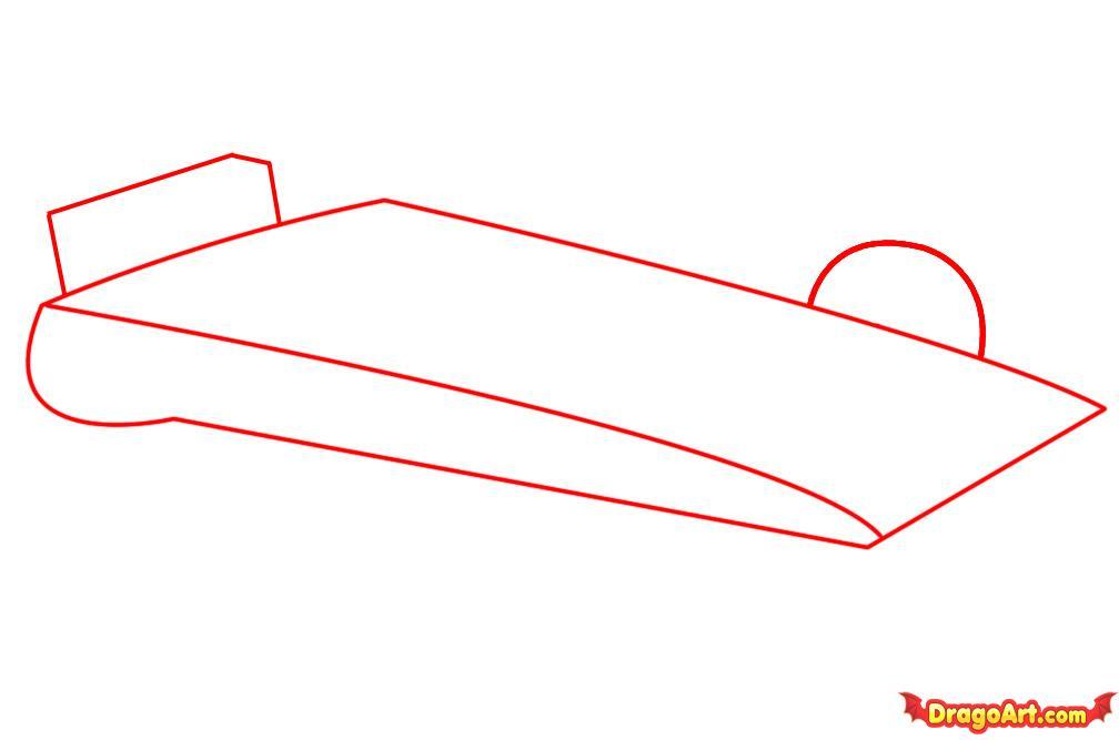 Рисуем автомобиль формулы F1 - шаг 1