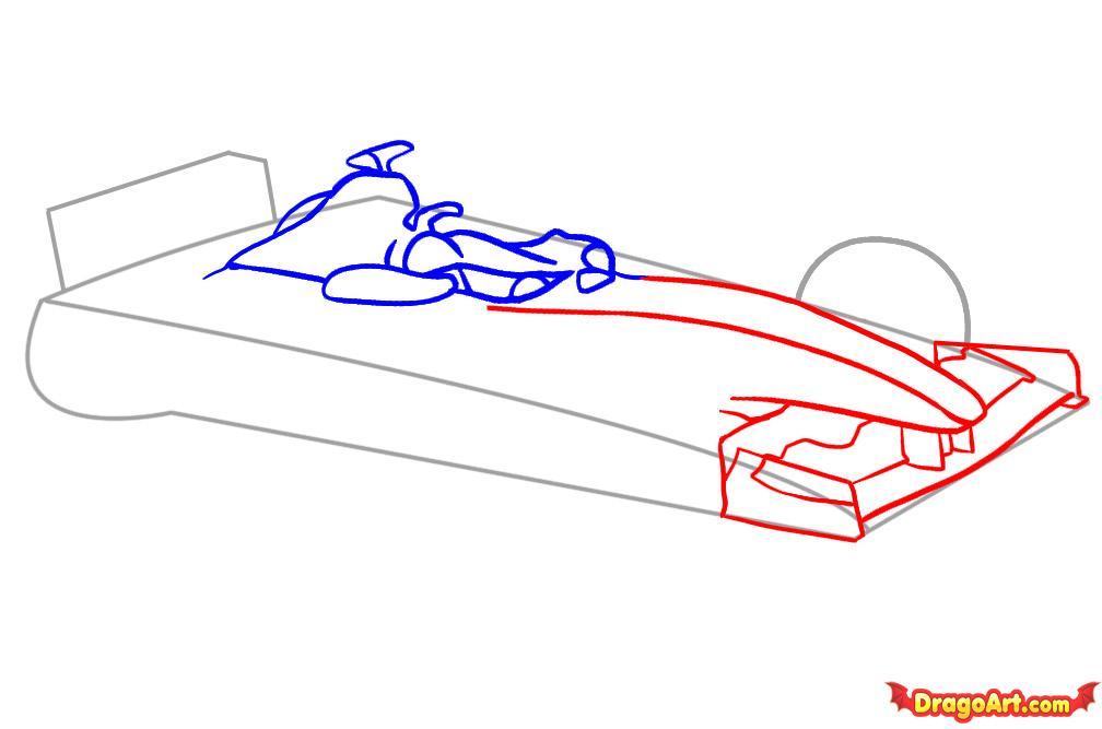 Рисуем автомобиль формулы F1 - шаг 3