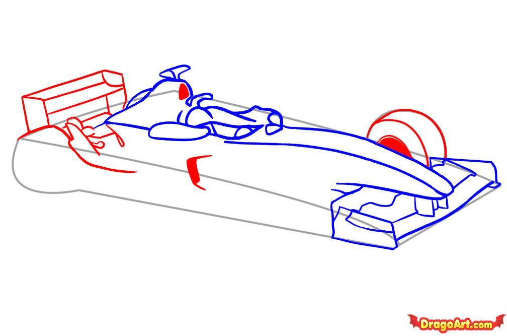 Рисуем автомобиль формулы F1 - шаг 4