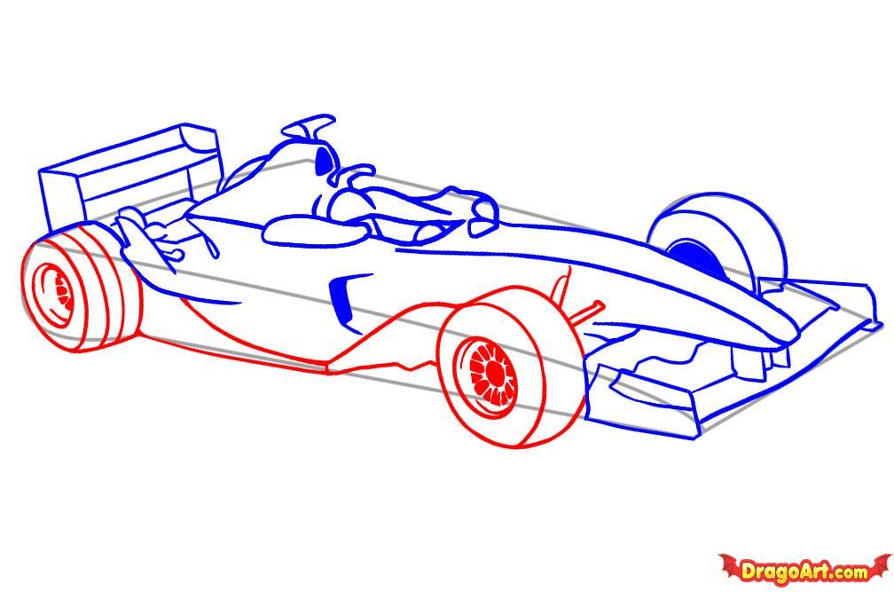 Рисуем автомобиль формулы F1 - шаг 5