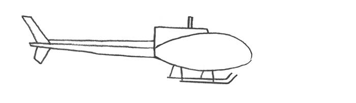 Рисуем вертолет за 4 шага - шаг 2