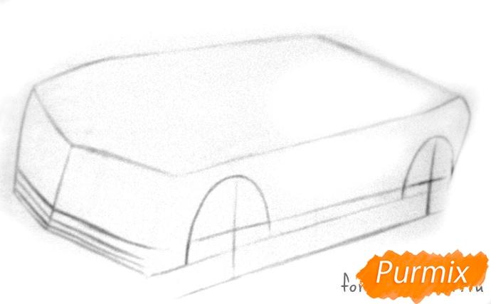 Рисуем Chevrolet Camaro цветными карандашами - шаг 1