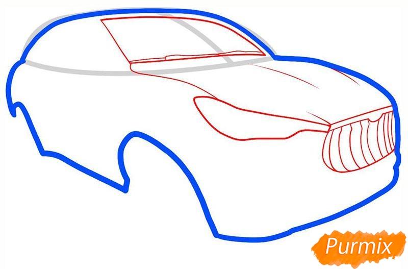 Рисуем мазерати - шаг 3