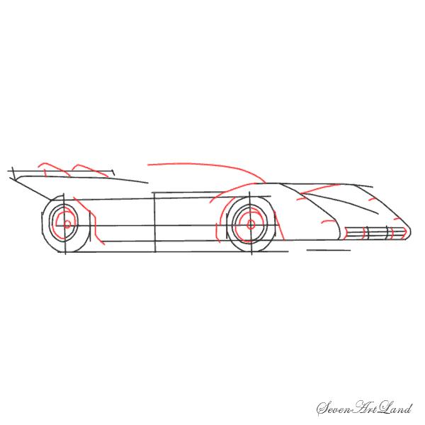 Рисуем автомобиль Феррари 512S - шаг 5