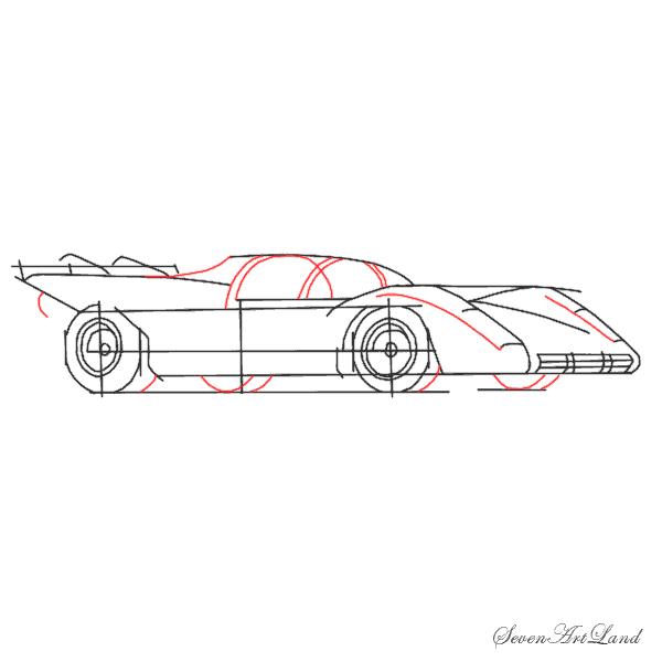 Рисуем автомобиль Феррари 512S - шаг 6