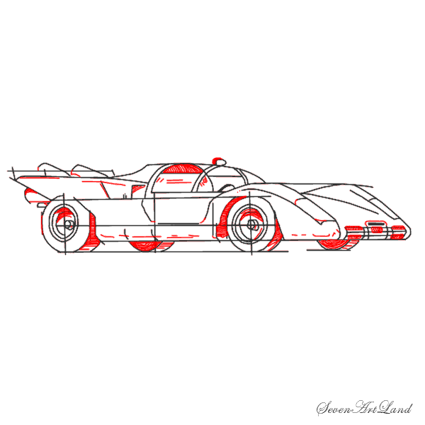 Рисуем автомобиль Феррари 512S - шаг 8