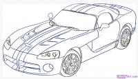 автомобиль, машину Dodge Viper