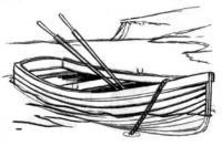 деревянную лодку карандашом