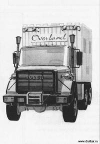 Фото грузовик Iveco карандашом