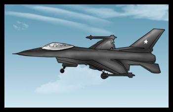 Рисуем истребитель F-16