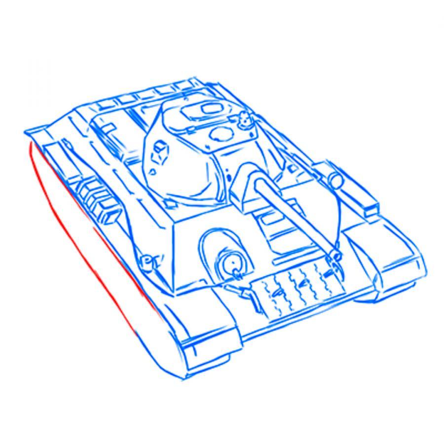 Рисуем советский средний танк Т-34 из World of Tanks - шаг 13
